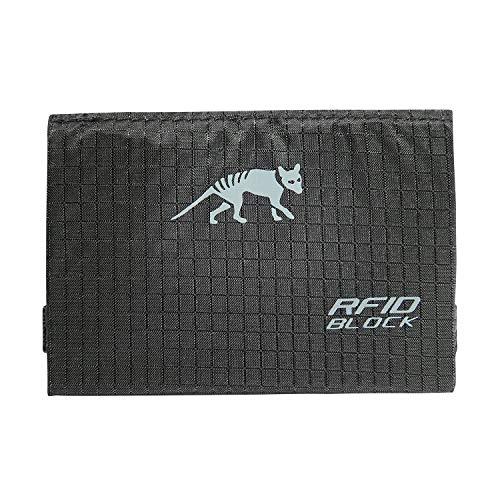 TÜV geprüfter Tasmanian Tiger TT Card Holder RFID B Brieftasche Ausleseschutz Geldbörse NFC Auslesesicher Portemonnaie Kreditkarten-Tasche (Schwarz)