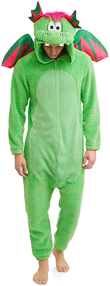 Men's Don't Poke The Dragon Union One Pajama Suit Set Year-end annual account Piece Outlet ☆ Free Shipping