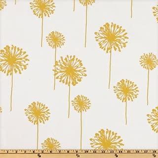 Premier Prints Dandelion Slub, White/Yellow