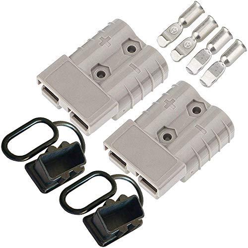 CESFONJER Batterieanschluss 50A Stecker - Quick Connect Batterie Akku Steckverbinder Schnellanschluss Stecker für Auto Wohnmobil Wohnwagen Motorrad Boot Solaranlagen
