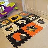 XMTMMD Puzzle Spielmatte baby Krabbeldecke Spielmatte Set weichen ineinandergreifende SCHAUMSTOFF EVA Boden Fliesen für Kinder spielen Puzzlematte für Babys und Kinder AMZP011G3212