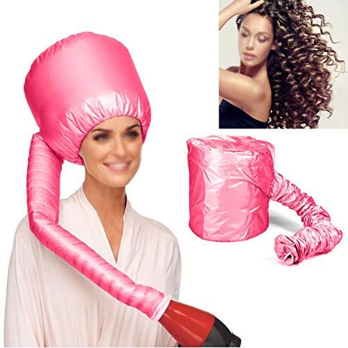 Marannashop® - Gorro térmico rizado para el pelo, casco de secado portátil, secador de pelo, nailon, peinado, rizos elásticos 950