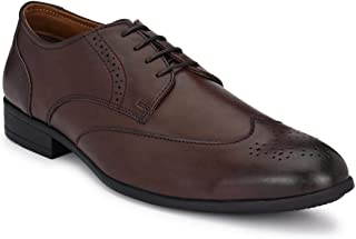 Park Avenue Solid Brown Coloured Men's Synthetic Formal Shoes