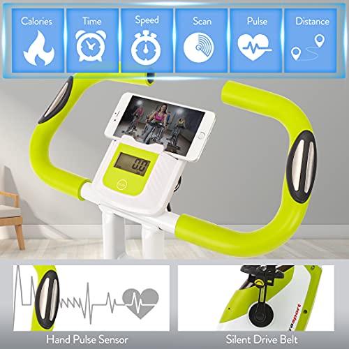 Ultrasport Heimtrainer F-Bike 150/200B mit Handpuls-Sensoren, mit/ohne Rückenlehne, faltbar - 3