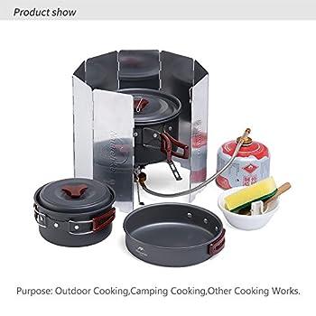 Naturehike Pare-Vent Pliable en Alliage D'aluminium pour Réchaud de Camping, 8 Assiettes Pare-Brise de Camping Portable pour Barbecue Pique-Nique Pêche