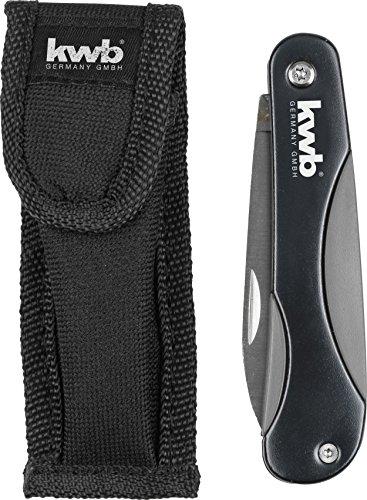 KWB Cuchillo de ocio con funda de nailon para cinturón, 7,5cm, hoja