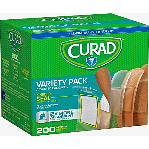 Curad Variety Pack Adhesive Bandages, 200Count