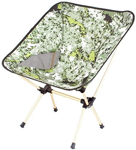 WXHHH Silla de Camping Plegable Portátil Playa Portátil Moon Sillas de Camping Plegables ultraligeras compactas Sillas de Exterior Ligeras y Resistentes para Viajes de Pesca