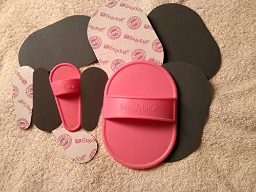 Haarentfernungspads – Peelingpads - für Gesicht und Körper - pink