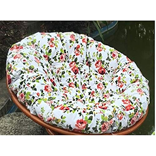 MSTOLL Thick Papasan Chair Cushion Hanging Swing Chair Pads Hanging Basket Chair Cushions Chair Not Included-100cm(39inch) yellow