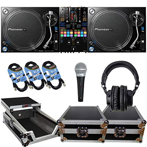 (2) Pioneer DJ PLX 1000 Turntable, Pioneer DJ DJM-S11 Mixer, (2) ProX T-TT, ProX XS-M12LT, TH07, (3) XLR Cables, PG48 Mic Bundle