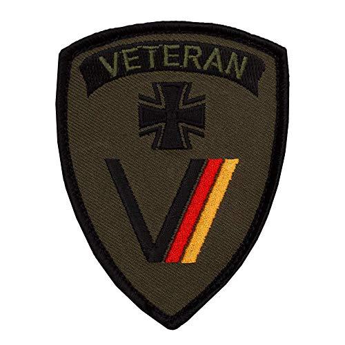 Café Viereck ® Bundeswehr Veteran Patch Gestickt mit Klett - 7 cm x 9 cm