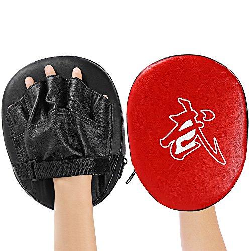 Almohadilla de entrenamiento de boxeo Guantelete Guante de entrenamiento del boxeo Cojin de punetazos de enfoque de objetivo Karate Muay Thai Kick Rojo R TOOGOO