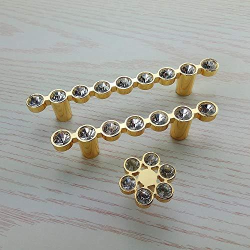 Yoin 6 stksLuxury Goud Kristal Glas Diamant Meubilair Handgrepen Lade Kledingkast Keukenkasten Kast Schuifdeur Dressoir Trekknoppen