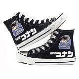 Vngbds Zapatos de Lona Detective Conan Zapatos de Anime Zapatillas Altas Zapatillas de Suela de Goma for Estudiantes Casuales con Cordones Zapatos Planos para Estudiantes Adultos
