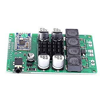 DC 12V 24V Wireless Bluetooth 5.0 Power Amplifier Board 2x50W/400W Support AUX Audio Input Support Change Name and Password