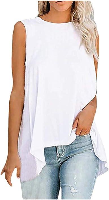 Camiseta de Tirantes para Mujer, Camiseta sin Mangas de Gasa ...