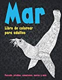Mar - Libro de colorear para adultos - Pescado, pirañas, camarones, morsa y más