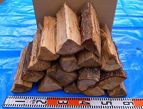 100%ナラ薪 長さ30cm 岩手県産ブランドの自然乾燥済 宅配110サイズ段ボール詰め 総重量20kg