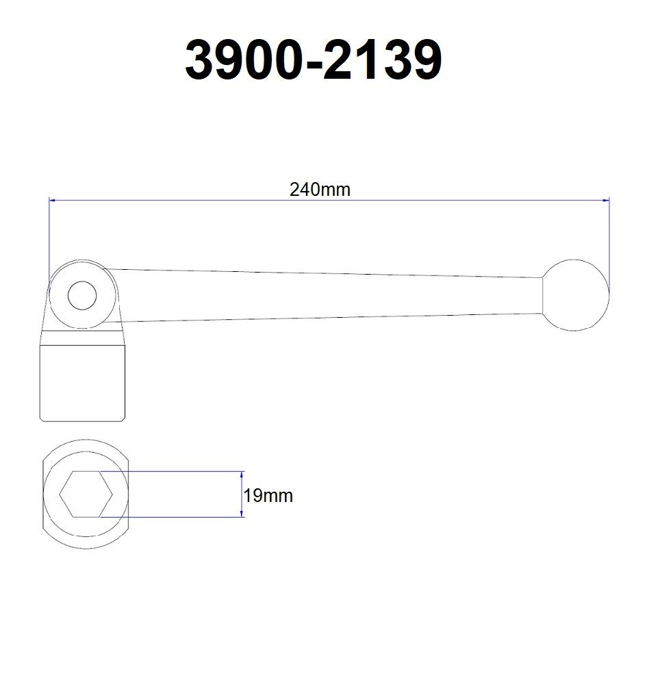 1//2 Hex Hub HHIP 3900-2137 Replacement Vise Handle
