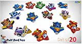 UNIq Toys Pull Back Vehicles, Aeroplane Toy Play Set, Friction Powered Pack Mini