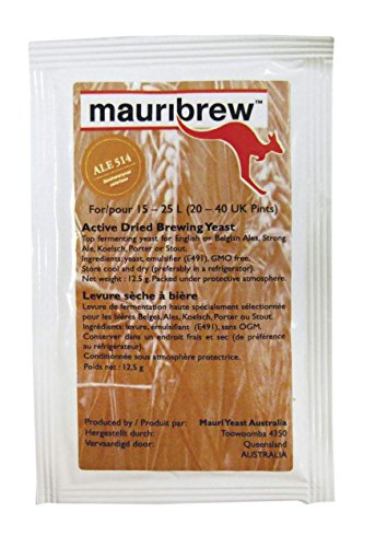 Mauribrew Ale 514 12,5g obergärige Bierhefe Trockenhefe zum Bier brauen
