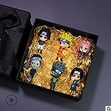 6Pcs Anime Naruto Akatsuki Uchiha Sasuke Killerb Sakura Madara Kakashi Zabuza Hidan Haku Orochimaru 7Cm Qver Model Action Figure Toys Gift Box Set