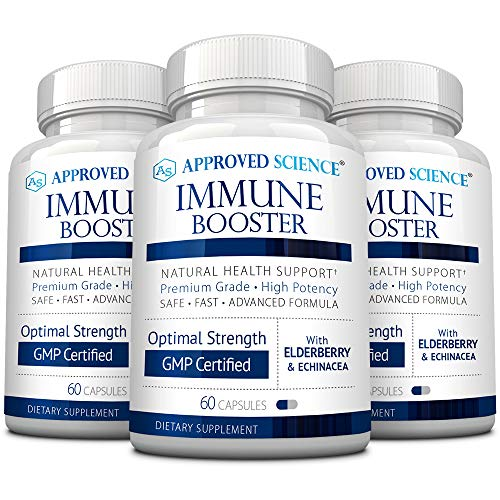 Approved Science® Immune Booster Approved Science® Immune Booster - Support Immunity, Maximum Strength Elderberry Extract, Vitamin C, and Zinc - All Natural Vegan Friendly - 3 Bottles