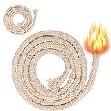 nuoshen stoppino in cotone intrecciato per candele a olio e candele, 2 metri