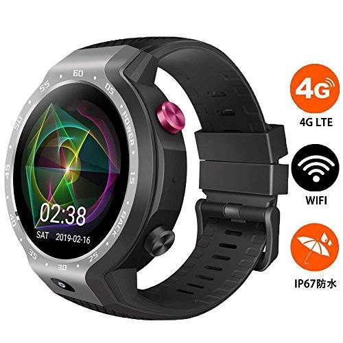 BUHWQ Smartwatch Fitness Tracker Armband Uhr SchrittzäHler Uhren Smart Watch 4G Dual-System wasserdichte GPS-Positionierungskarte Z30 Sportuh