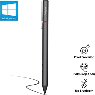 Penoval Surface Pen with Microsoft Certified, 4096 Pressure Sensitivity, Aluminium Body, for Microsoft New Surface Pro 3/4/5/6/Go, Surface Book, Surface Laptop/Studio and More (4A Battery & 2 Nibs)
