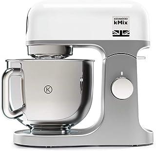 Kenwood kMix KMX750WH - Robot de Cocina Multifunción, 1000 W, Bol Metálico de 5 L con Asa, Gancho para Amasar, Varillas, M...