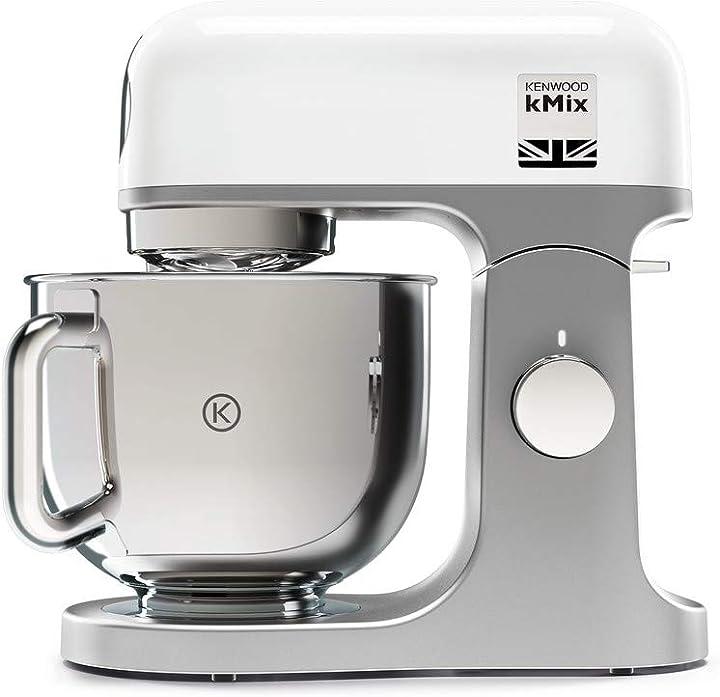 Impastatrice planetaria kitchen machine kmix, robot da cucina mixer, 1000 w kenwood kmx750wh KMix KMX750WH