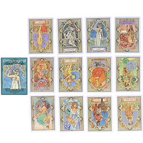SONK Tarot-Deck, Wahrsagerei-Karte 22 Tarot Klassisches Design Tarot-Wahrsagungskarte Wahrsage-Tarot für Home Party