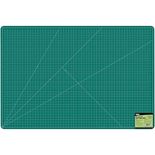 U.S. Art Supply 40  x 60  Green Black Professional Self Healing 5-Ply Double Sided Durable Non-Slip PVC Cutting Mat Great for Scrapbooking, Quilting, Sewing and All Arts & Crafts Projects