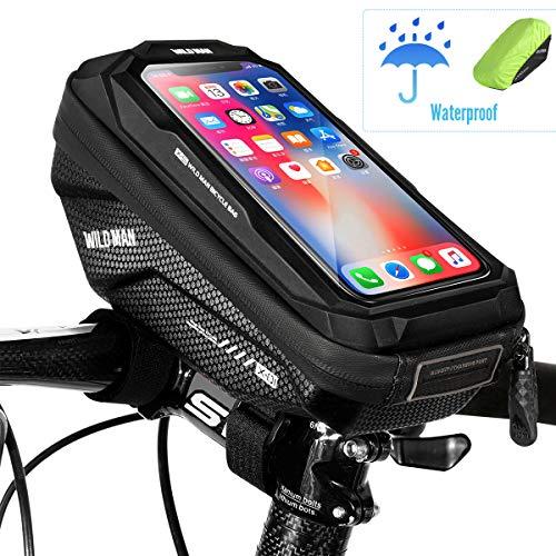 WACCET Handyhalterung Fahrrad Wasserdicht Lenkertasche Fahrrad mit Touch-Screen fahradtasche für Lenker Handytasche Fahrrad für iPhoneXS MAX/XR/X/8/7/Samsung S9/S8 bis zu 6,5