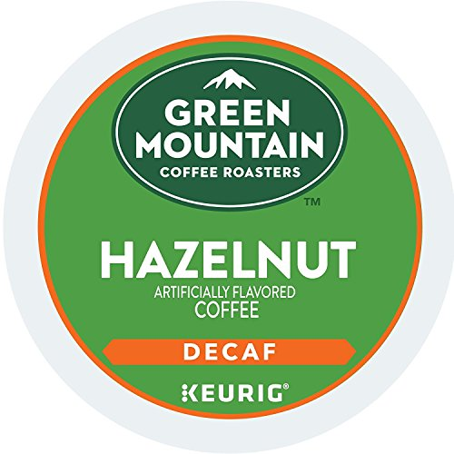 Green Mountain Coffee Roasters Hazelnut Decaf, Single-Serve Keurig K-Cup Pods, Flavored Light Roast Coffee, 72 Count