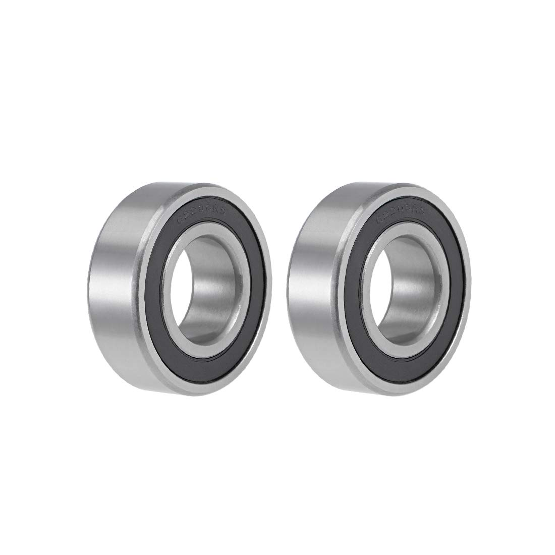 uxcell 62200-2RS Deep Groove Ball Bearings 10mm x 30mm x 14mm Double Sealed Chrome Steel Z2 ABEC1 2pcs