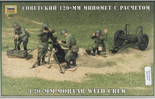 Soviet 120-mm mortar with crew WWII 1 35 Zvezda 3503 by Zvezda