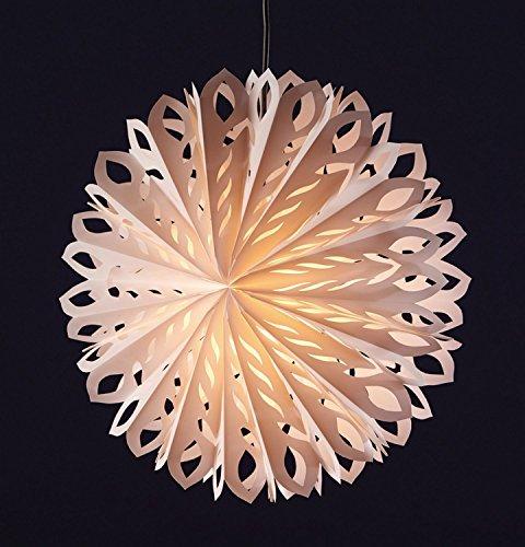 Deco Plant decoratieve verlichting plastic wit 60 x 60 x 9 cm