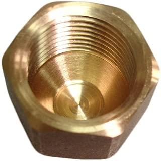 NIGO Brass Tube Fitting, SAE 45 Degree Flare Fitting, Cap Nut (3/8