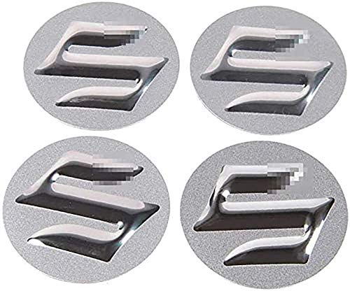 4 Piezas Tapas centrales Plastico Aleación Logo Insignia Coche, para Suzuki Swift SX4 Jimny Samurai Vitara Alto Liana Tapacubos Pegatinas
