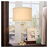 Lámpara decorativa para salón, dormitorio, mesita de noche, lámpara de mesa de cristal de cobre