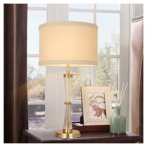 Lámpara de mesa LED de estilo sencillo, para salón, dormitorio, mesita de noche, lámpara decorativa, lámpara de mesa de cobre
