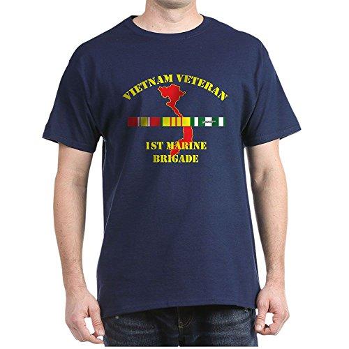 CafePress 1St Marine Brigade T Shirt 100% Cotton T-Shirt Navy