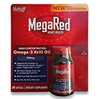 Schiff MegaRed Krill Oil High Concentration 750mg 80 Softgels
