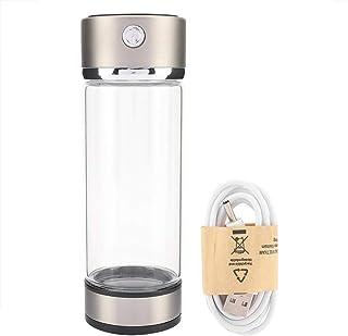 Botella de Agua de hidrógeno, Carga USB Filtro de purificador de Agua de hidrógeno Rico Botella de Vidrio Taza portátil Lo...