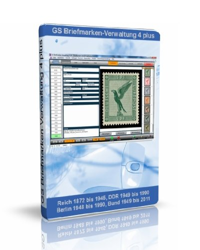 GS Briefmarken-Verwaltung 4 plus - Software zur Verwaltung ihrer Briefmarken-Sammlung - Datenbank Programm zur Briefmarkenverwaltung