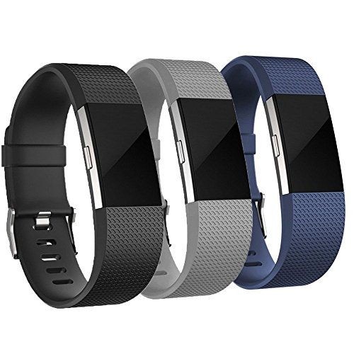 AdePoy Fitbit Charge 2 Correa, Soft TPU Adjustable Fitness Banda de Reemplazo Fitness Correa para Fitbit Charge 2