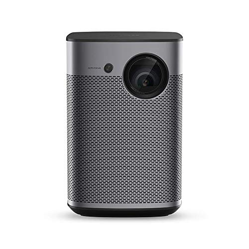 XGIMI Halo Smart Mini Projector, 1080P FHD 800 ANSI Lumen Portable Projector, Android TV 9.0, Support 2K/4K, Portable WiFi/Bluetooth Harman/Kardon Speaker, Indoor/Outdoor Theater More Than 4000+ Apps
